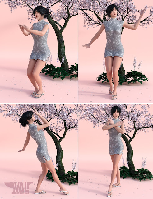 Ancient Arts Poses for Genesis 3 Female