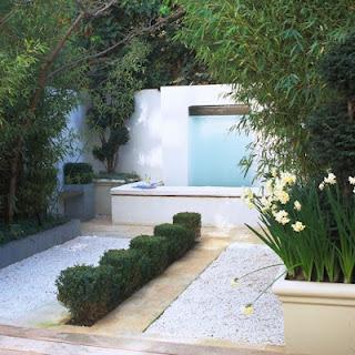 White Modern Garden