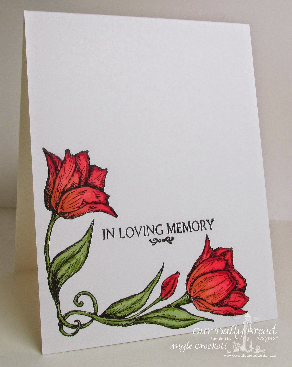 ODBD Tulip Corner, Carried to Heaven, Card Designer Angie Crockett