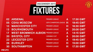 Jadwal Manchester United Desember 2017