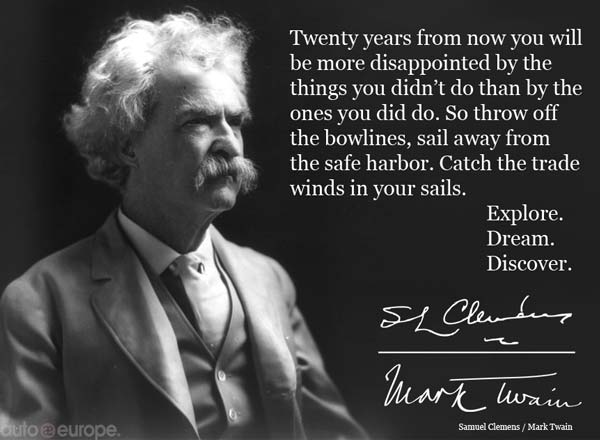 Great Sailing Quotes: Mark Twain Quote