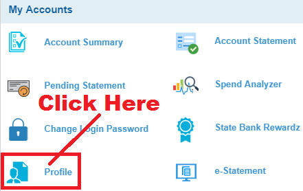 how to change email id in sbi internet banking
