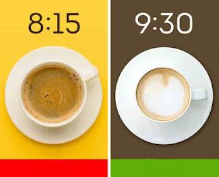 الوقت المناسب لتناول القهوة
