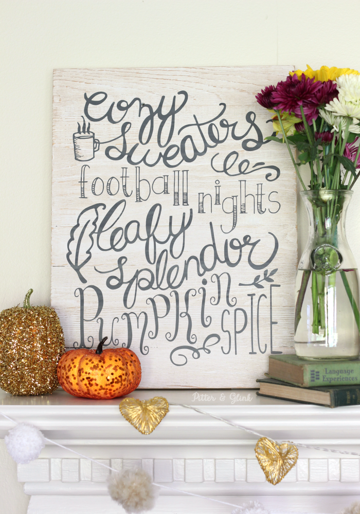 easy-to-make Hand-Lettered Fall Wall Art