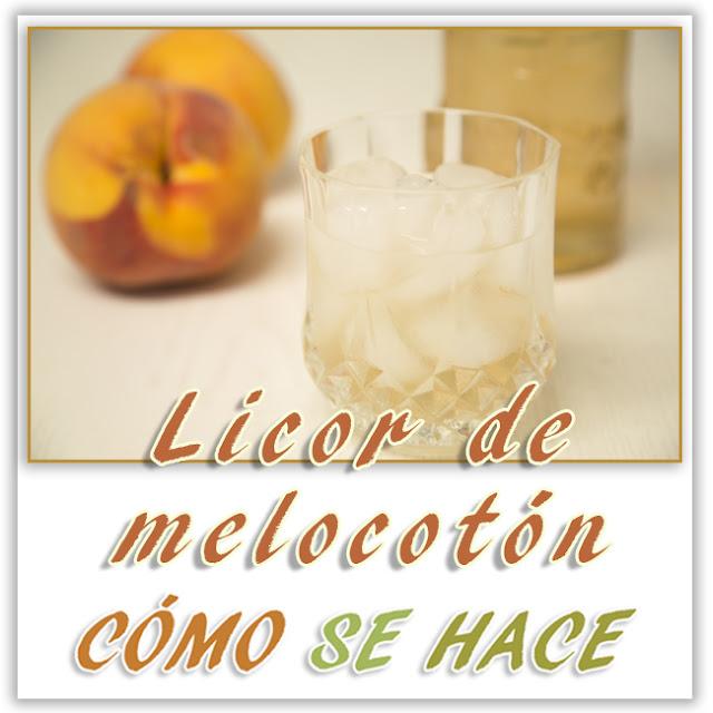 LICOR CASERO DE MELOCOTÓN
