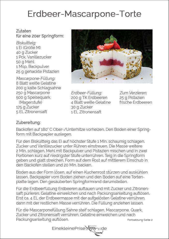 Erdbeer-Mascarpone-Torte Rezept Seite 1