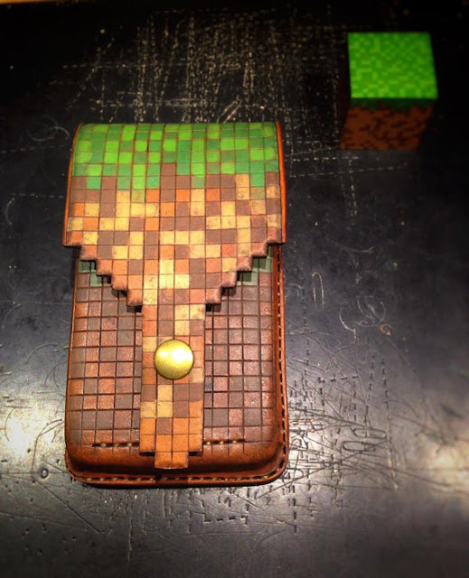 Minecraft Leather Phone Holster