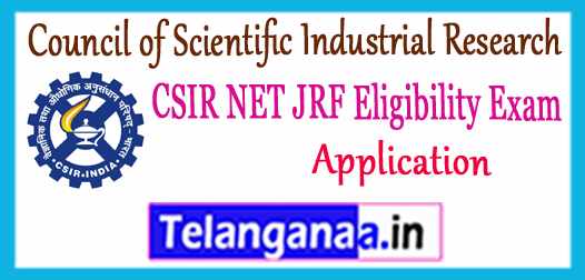 CSIR NET JRF Council of Scientific Industrial Research 2017 Application