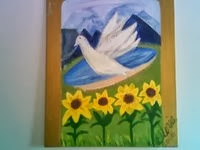 Dove of The Holy Spirit; painting by Gloria Poole in acrylics; yr 2007