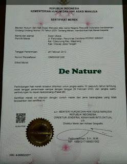 Sertifikat Halal Denature dari MUI