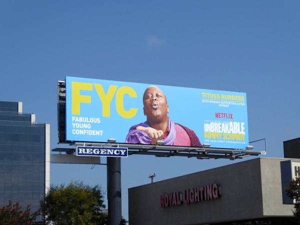 Kimmy Schmidt Tituss 2016 Emmy FYC nomination billboard