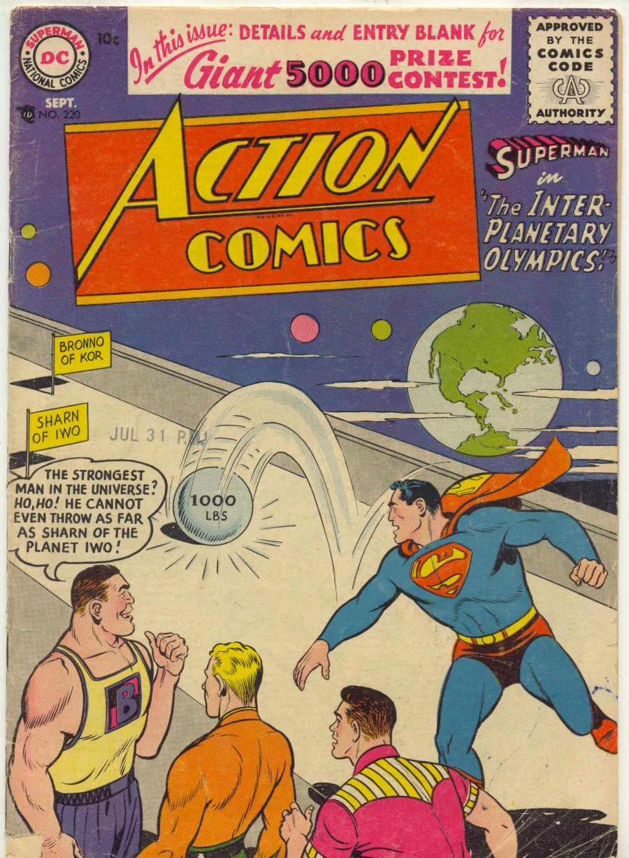 Read online Action Comics (1938) comic -  Issue #219 - 37