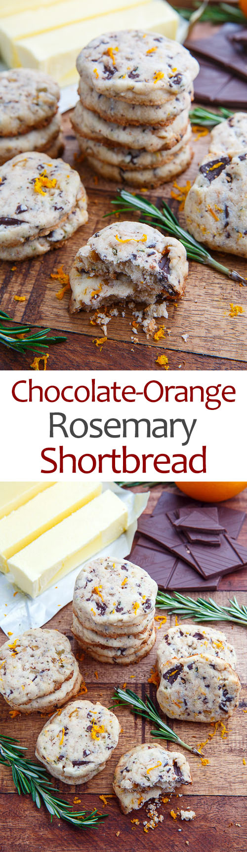 Chocolate Orange Rosemary Shortbread