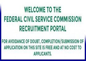 Fed. Civil Service Recruitment Portal Application Form 2017/2018 (FCSC)