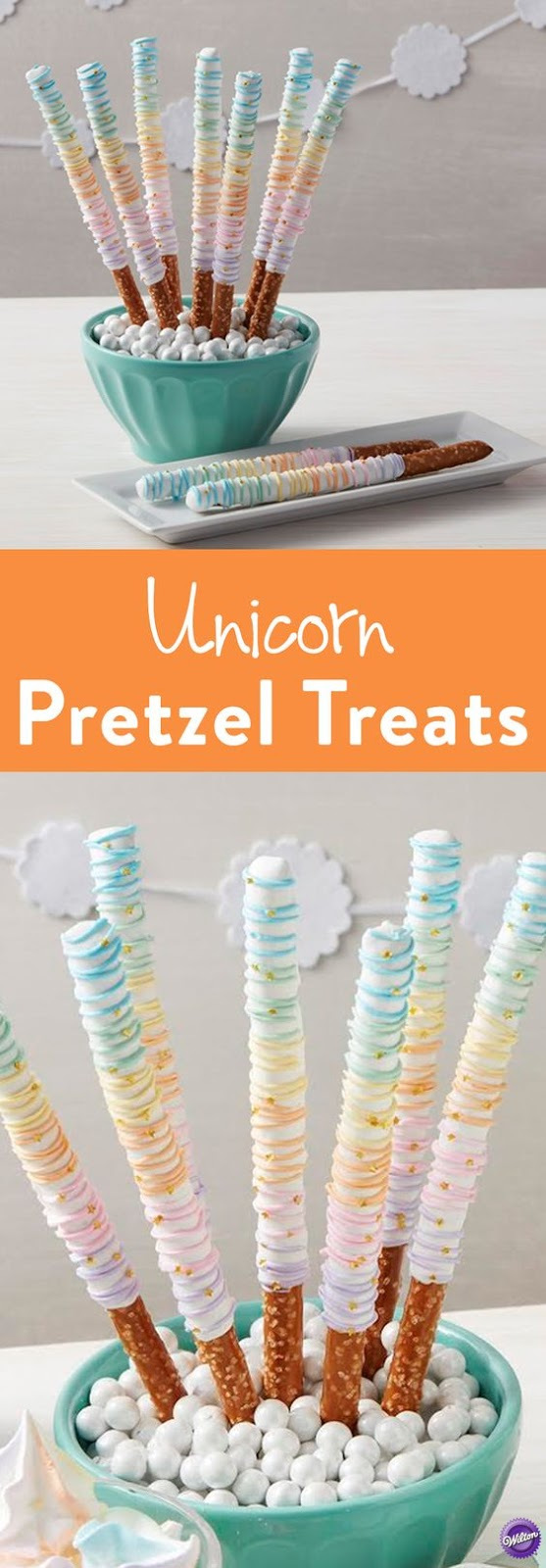 CANDY DIPPED PRETZEL RAINBOW TREATS