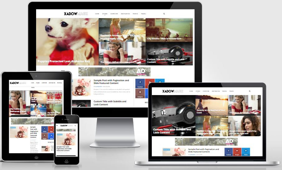 XadowMagz Fully Responsive and Mobile-friendly Blogger Template