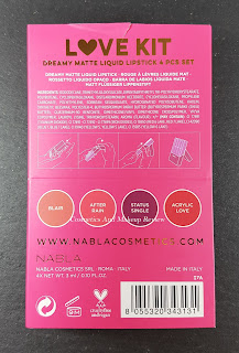 Nabla - Love kit - packaging posteriore