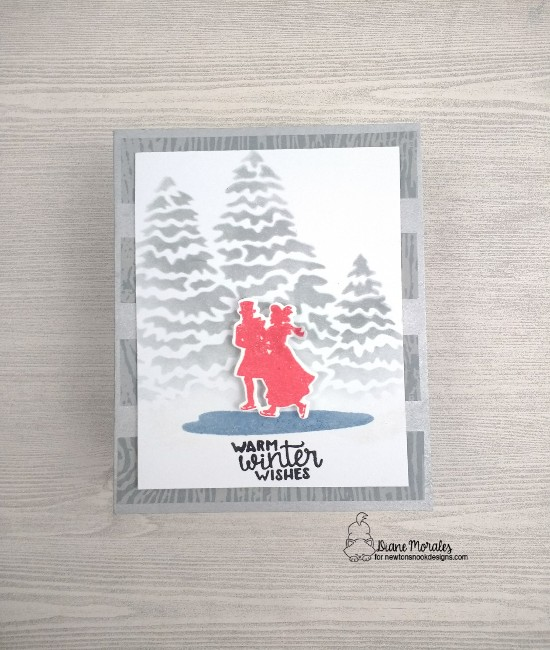 Warm winter wishes by Diane features Evergreens and Winter Memories by Newton's Nook Designs; #newtonsnook