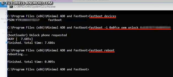 SONY : Fastboot OEM Unlock via CMD