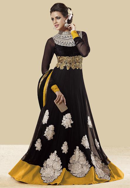 South Indian Actress In Anarkali Long Dress