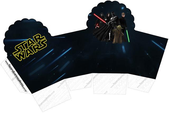 Caja para Cupcakes o Golosinas de Star Wars.