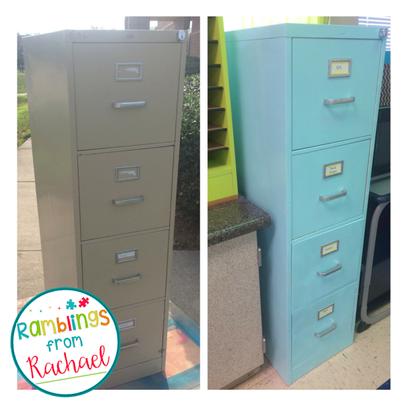 Drab To Fab Spray Painting An Old Filing Cabinet