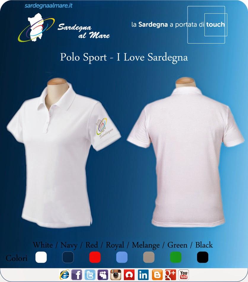 """Polo con logo """"Sardegna al Mare"""" Classico"""