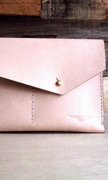 Pink envelope clutch - Aegis Handcraf