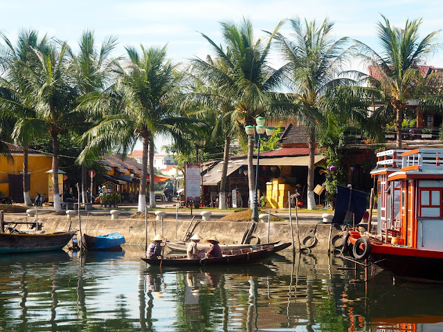 Boats in the river in Hoi An, Vietnam
