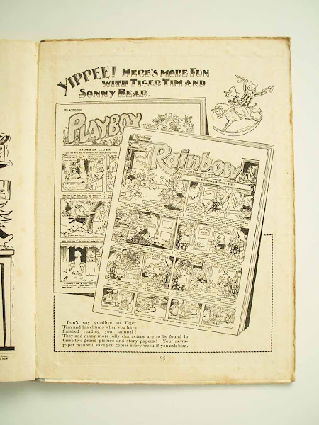 playbox, rainbow, comic, advert, tiger tim, annual, christmas, 1924, sonny bear