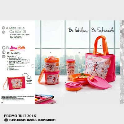 Miss Belle ~ Katalog Tupperware Promo Juli 2016