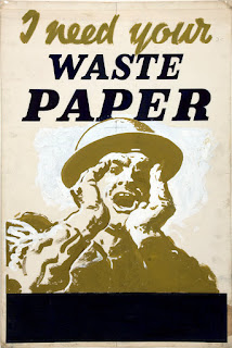 WW2 Recycle Paper Poster