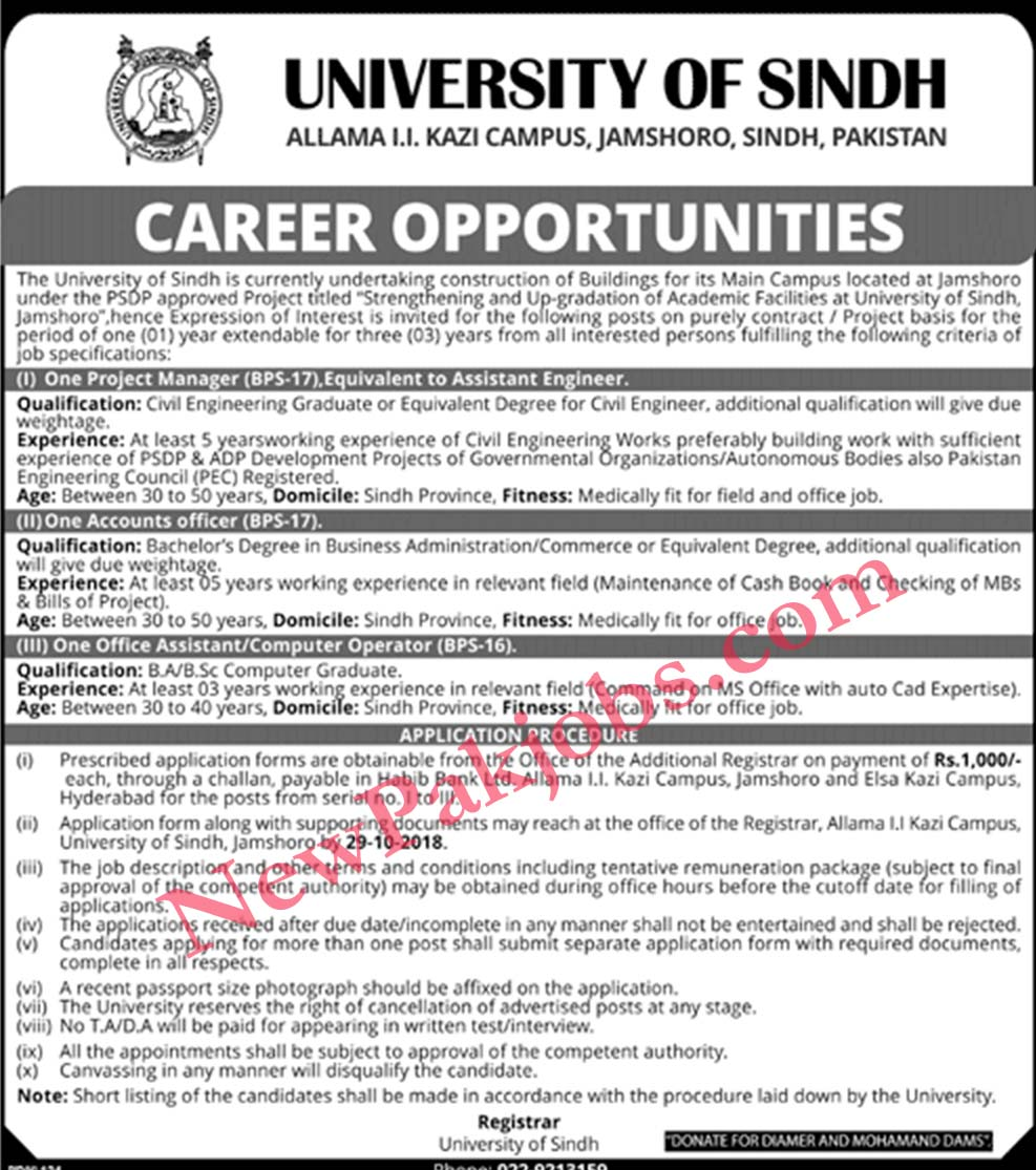 Jobs-in-University-of-Sindh-Jamshoro-October-2018
