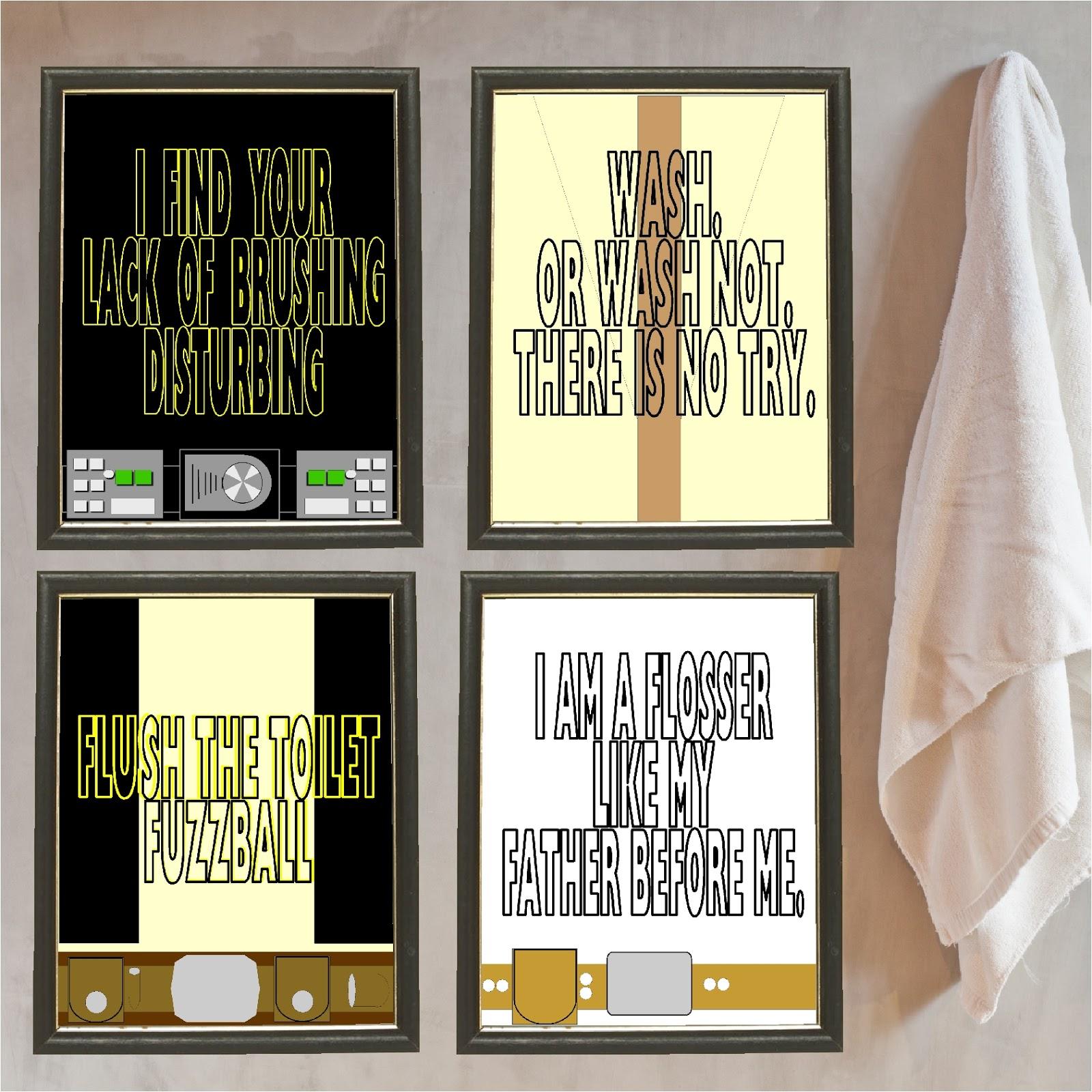 Star Wars Kids Bathroom Printable Posters | Everyday Parties