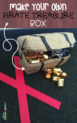 How to make an easy pirate treasure box!