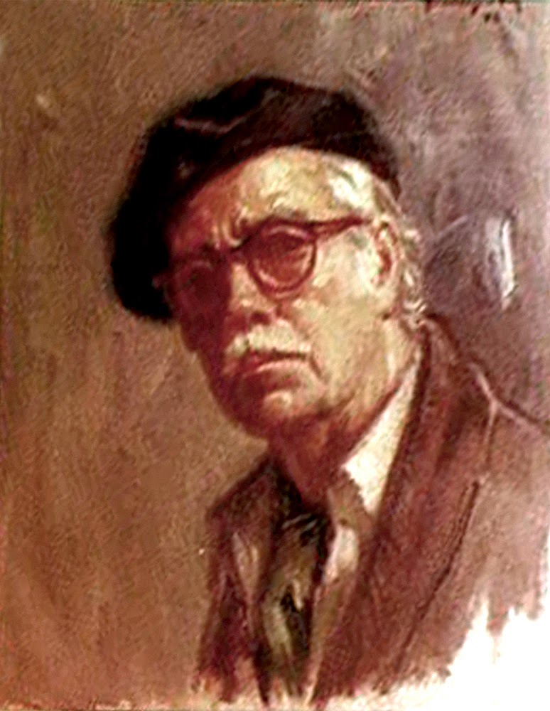 Francisco Val, Self Portrait, Portraits of Painters, Fine arts, Portraits of painters blog, Paintings of Francisco Val, Painter Francisco Val