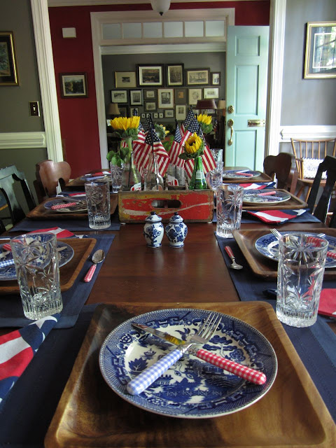 patriotic place setting