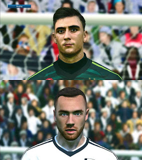 PES 2017 Faces Mattia Perin & Calum Chambers by Face PES 2017