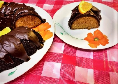 Paleo Whole Orange Cake with Dark Chocolate Frosting (Paleo, Gluten-free, Grain-free).jpg