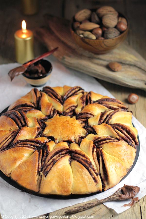 strucla gwiazda z kremem czekoladowym