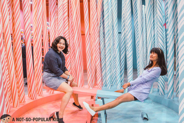 Anna De Jesus and Edna Aldave in Candy Seesaw Dessert Museum