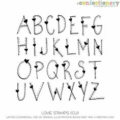 alphabet images in heart