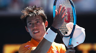 Nishikori beats Carreno Busta to reach quarters