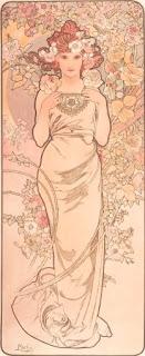 La rosa, di Mucha