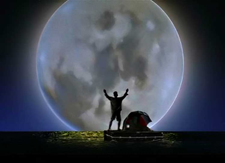 Tom Hanks encounters the moon on his journey in Joe Versus the Volcano.