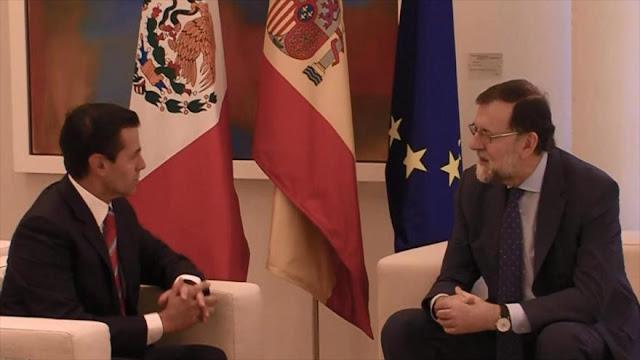 Activistas sociales critican la visita de Peña Nieto a España