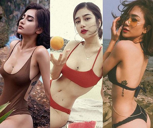 Hình xăm ngực cá tính của người đẹp Quảng Ninh từng ném danh hiệu vào xe rác