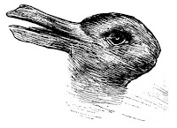 Duck or a rabbit optical illiusion aiding in teaching perspective