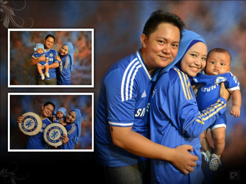 foto background keluarga studio mini