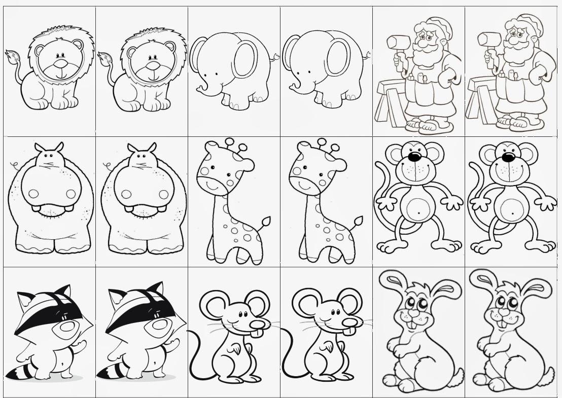 Favoritos Professora Michelle: Joga da memória colorido e para colorir  PY87